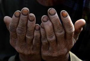 Eid festival: An Afghan man prays to celebrate Eid