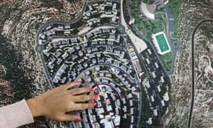 An early model of Rawabi city An ar