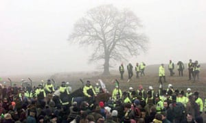 pagan road protest