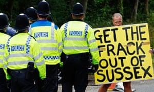 Anti-fracking demonstrator
