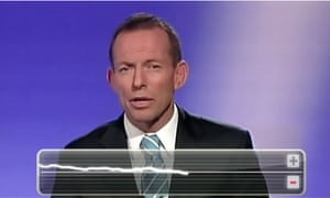 Tony Abbott at leaders debate 2010