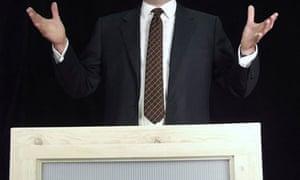 a politician or man making a speech