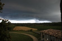The storm moves ominously toward the vineyard on 2 August
