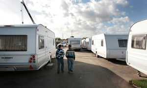 Travellers who were evicted from Dale Farm in Essex