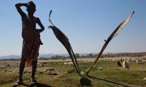 A young herdsman near Okangwati, northern Namibia.