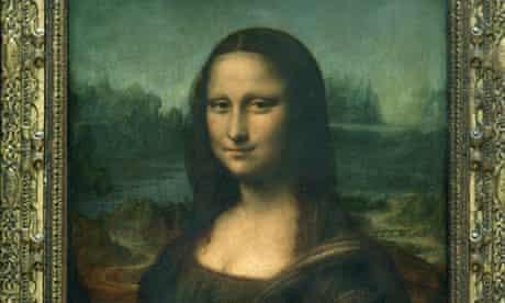 The Mona Lisa in the Louvre museum, Paris, painted by Leonardo da Vinci