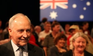 Paul Keating. The ALP launch their 2013 election campaign at the Brisbane Convention centre this morning, Sunday 1st September 2013. Photograph by Mike Bowers Guardian Australia #politicslive