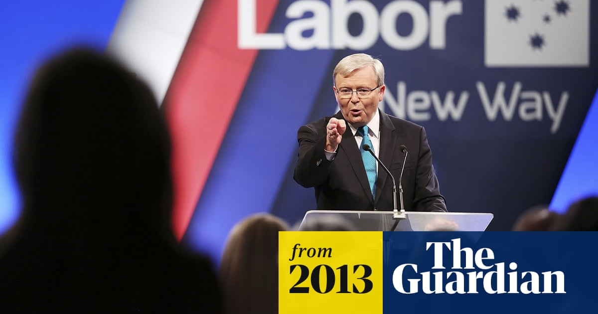 Kevin Rudd S Election Campaign Launch Speech Full Text World News The Guardian