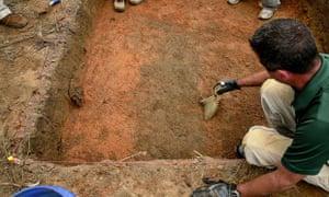 Suspected graves near Dozier