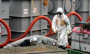 water tanks at the Fukushima nuclear power plant leak