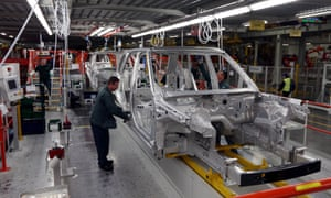 Aluminium bodied Range Rovers in production at the Jaguar Land Rover (JLR) plant in Solihull as JLR will create 1,700 jobs at its plant in Solihull as part of a  1.5 billion investment.