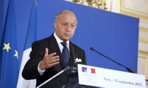 Foreign Minister Laurent Fabius says France will present a resolution on Syria's chemical weapons programme to the UN Security Council later today.