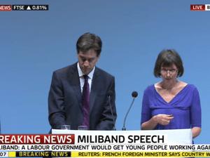 Ed Miliband with Frances O'Grady