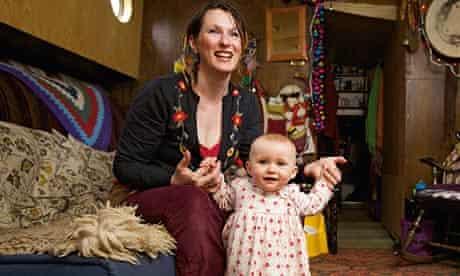 Joanne Purdie withher first child, Holly Elfin