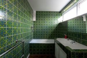 homes - marygate lane: green bathroom of sixties home