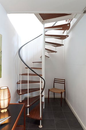 homes - marygate lane: staircase in sixties house