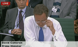 David Cameron at the liaison committee