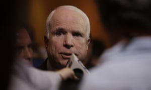 John McCain: supports a use of force. In Phoenix, 5 September. Photograph: Jerry Burch/Demotix/Corbis