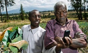 kenya farmer mobile John Wahngombe