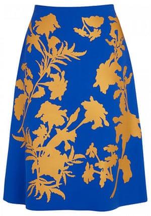 Key trends: Blue floral skirt