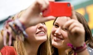 Teenage girls selfie