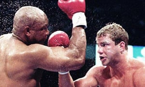 Tommy Morrison, right, fight George Foreman in 1993