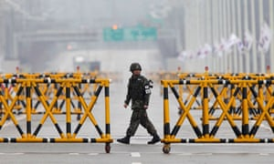 A South Korean soldier on patrol