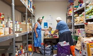Volunteers at the Rotherham food bank.