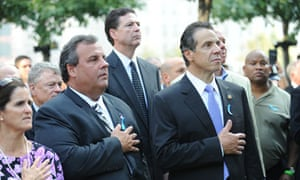 Christie and Cuomo observe silence 9/11 memorial