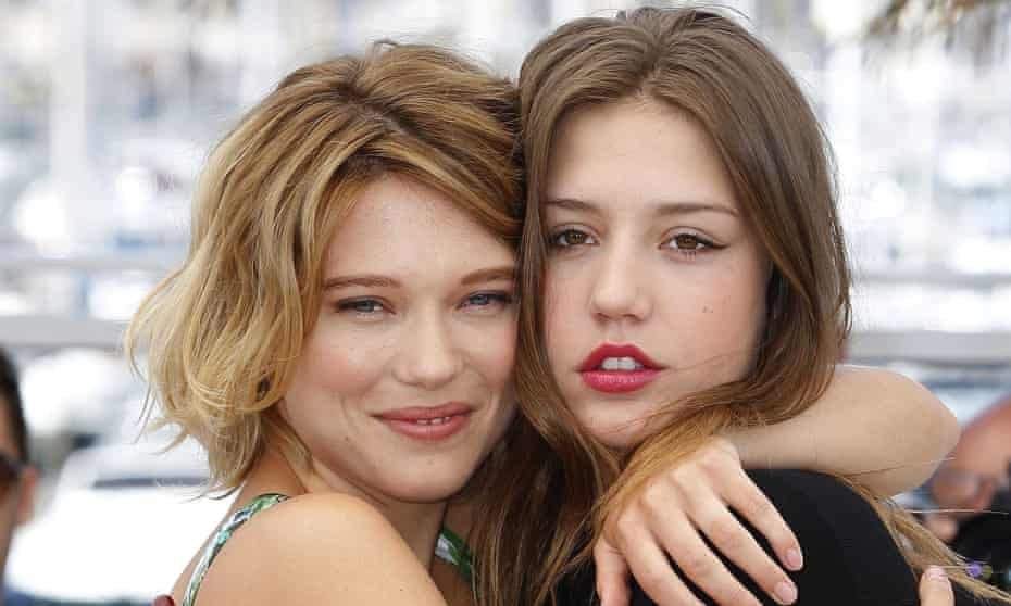 Lea Seydoux and Adele Exarchopoulos, lead actors in the movie Blue is the Warmest Colour.