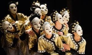 'Colour, light and lavish fabrics dazzle the eye': a scene from Turandot at the Royal Opera House.