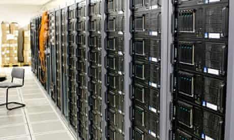 Racks of servers at CERN