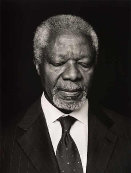 Kofi Annan by Anoush Abrar , shortlisted for the Taylor Wessing Photographic Portrait  Prize 2013