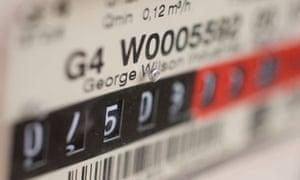Close up of gas utility power meter, Gas meter