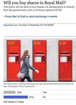 Guardian Royal Mail poll