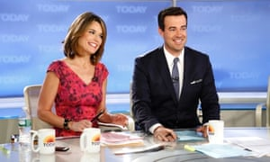 Savannah Guthrie and Carson Daly appear on NBC's Today show. Daly is to join the team as a regular host.