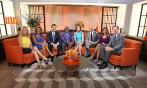 NBC Today show presenters on the new set