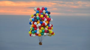 Jonathan Trappe and balloon cluster