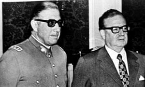Salvador Allende and general Augusto Pinochet