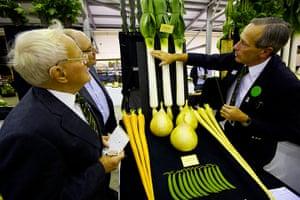 Nat Veg Champs: Peter Morris and David Allison judging the Six Veg Collection