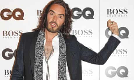 Russell Brand at the GQ awards at the Royal Opera House