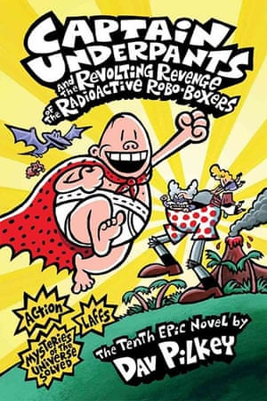 ALA : Captain Underpants (series), by Dav Pilkey.Reasons: Offensive language, un