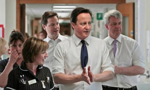 David Cameron,  Nick Clegg and Andrew Lansley