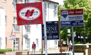 Estate agents' for-sale signs