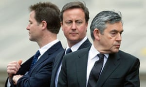 Nick Clegg David Cameron Gordon Brown