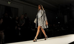 Cara Delevingne walks the runway at the Mulberry