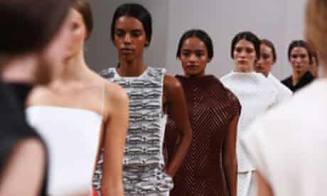Models walk the runway at the J.W. Anderson show during London fashion week spring/summer 2014