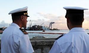 Shipwrecked Costa Concordia salvage effort off the Giglio island, Italy