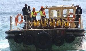 A boat carrying asylum seekers