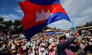 Protest in Phnom Penh, Cambodia